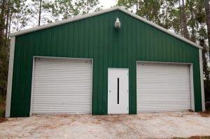 2 car metal garage